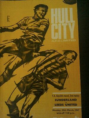 Sunderland v Leeds United fa cup 5th the 2nd replay at Hull 1967