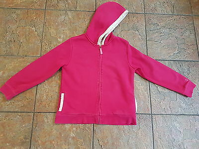 Lands End  Girls Sherpa Hoodie Pink - Age 10/12 Excellent Condition