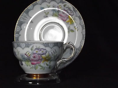 Vintage Rosina Bone China Teacup & Saucer ~ Multiple Flowers ~ So Pretty!