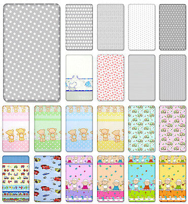 100% Cotton Fitted Sheet With Printed Design For Baby Crib Cot Cotbed Junior Bed