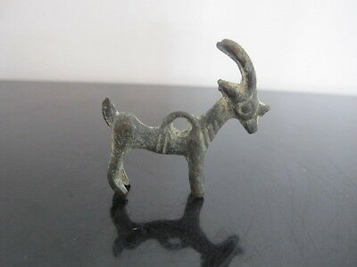 ANCIENT Luristan BRONZE Votive RAM Animal Figural Pendant Sculpture 900-600 BC
