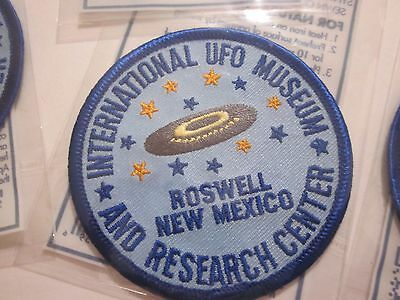 """Roswell International Ufo Museum """"1"""" Iron On Patch Area 51 Souvenir #38"""