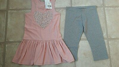 Girls Brand New Next Leggings and Top Set Age 8