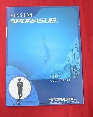 Vintage Sporasub 2004 Collection Catalogue Part of Mares Group