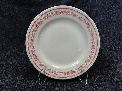"""Buffalo China Kenmore Red Vintage Luncheon Plate 9"""""""
