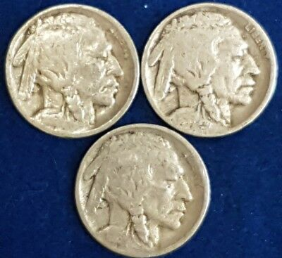Lot of 4 1916 Partial Date Buffalo Nickels   ID #81