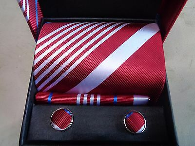 New Stoke City Tie And Cuff Links Presentation Set In Stoke Presentation Box