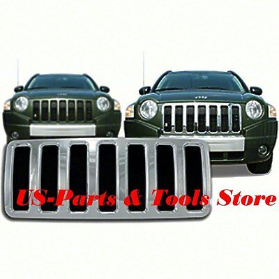 Jeep Compass 07 - 11 Kühlergrill Chrom Cover Chromgrill Grill 2007 10 08 09 2011