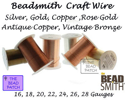 Beadsmith Tarnish Resistant Craft Wire - 6 Colors - 7 Gauges - Jewelry - Crafts