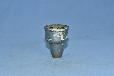 Antique ICE BOX HARDWARE FUNNEL DRAIN NICKEL OVER BRASS RESTORATION PART Lot #75