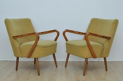 Pair of Vintage DDR Club Cocktail Armchairs MODERN Design Mid Century Chairs