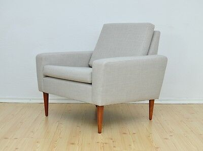 Vintage DANISH Armchair Lounge Chair Design Mid Century New Upholstery