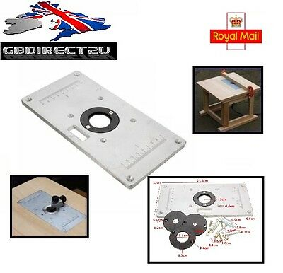 235mm x 120mm x 8mm Aluminum Router Table Insert Plate For Woodworking Bench UK