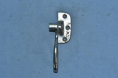 Antique ICE BOX HARDWARE NICKEL OVER BRASS HANDLE RESTORATION PART OLD Lot #99