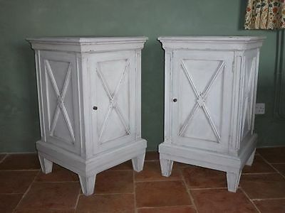 Swedish Style Painted Bedside Cabinets