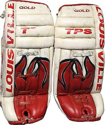 Mike Dunham New Jersey Devils TPS Louisville Game Used Goalie Pads AMAZING!