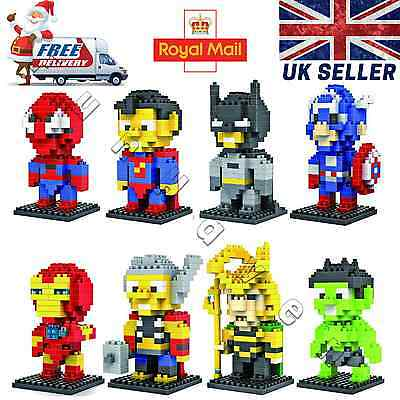 New LOZ Superhero series Mini Diamond Building Nano Blocks DIY toys Batman Hulk