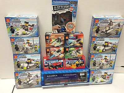 Job Lot Building Block Toys / To Lorry   X 16 Boxed Toys New Ideal Gifts