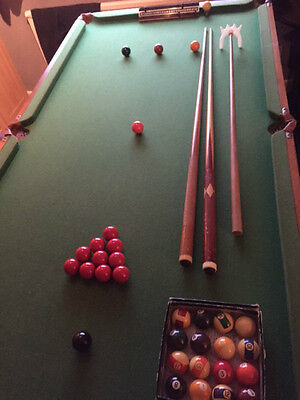 snooker table 6 x 3 with accessories
