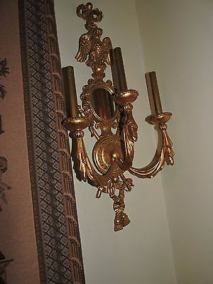 Pair of Empier-style Gold Leaf Sconces