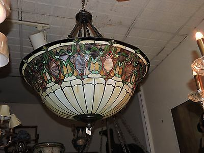 Tiffany Style Elegant Stained Glass Chandelier