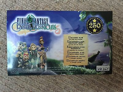 Final Fantasy Crystal Chronicles - Unscratched VIP Points For Nintendo Gamecube