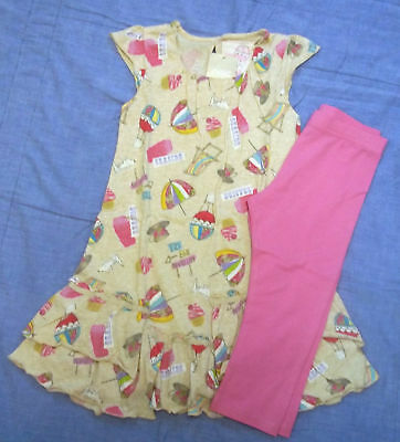 NEXT Teacup/Seaside Top & Pink leggings 2-3 BNWT