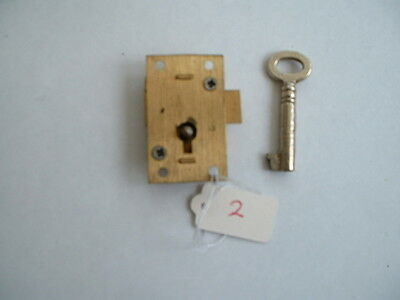 1 x Old   brass  Lock & original key Unused Old Stock  left or right fixing