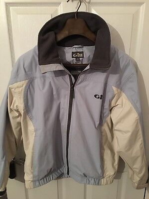 Gill  Crew Sport Sailing Jacket Size 12 SkyBlue / Cream