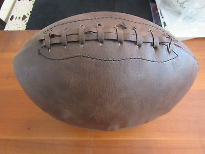 Vintage Antique Leather Ball Football Possible Handmade Holds Air