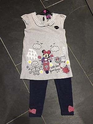 Bnwt Disney Girls Outfit Leggings And Top Age 5-6