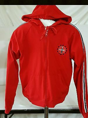 Coca Cola Red Hooded Zippered Jacket Size M
