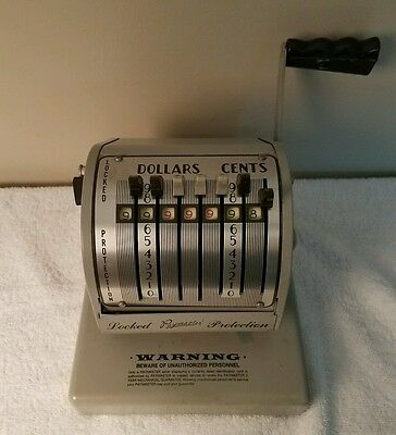 Vintage Paymaster Check Writer - Series: X-550 With Key