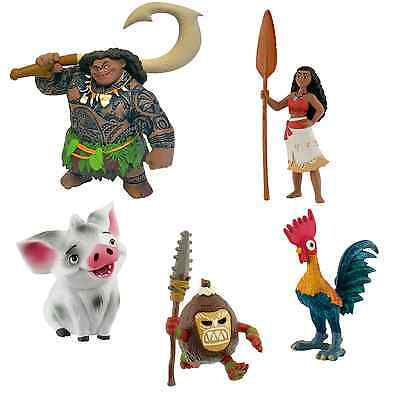 Bullyland Disney Moana / Vaiana Figures Figurines Toys Cake Toppers Topper