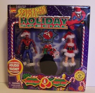 Spider-man Mary Jane Figures Set Holiday Special