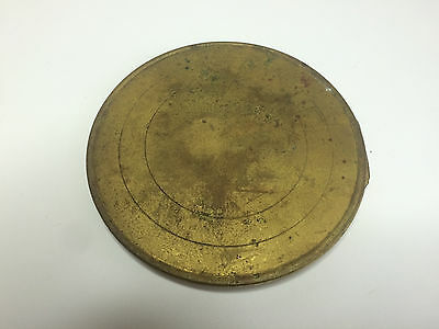 Brass, Hinged Clock Case Back Door Plate, fits a 4in hole - for Clockmaker