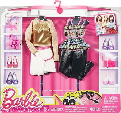 New! 2016 Barbie Complete Look Fashion 2-Pack Golden Evening Set