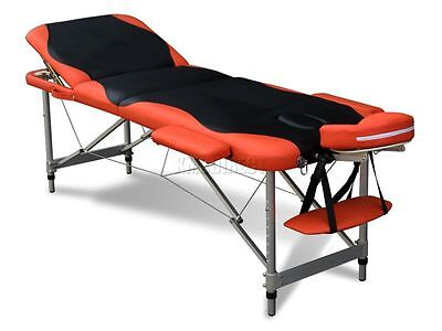 3 Section Lightweight Portable Folding Massage Table Luxury Beauty Couch Bed BO