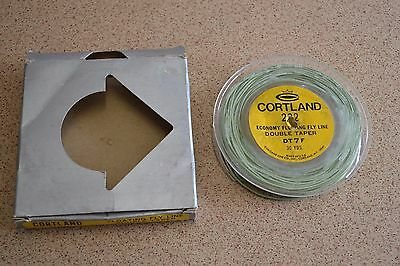 Vintage Cortland 222 Double Tapered Floating Fly Line, 30 yds, DT7F,