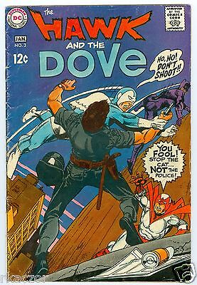 The Hawk And The Dove # 3  Dec.-Jan. 1969   Vg