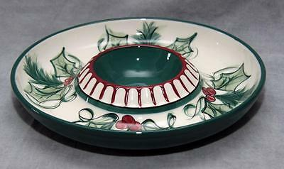 Gail Pittman Hollylujah Chip and Dip Plate Signed Exquisite!