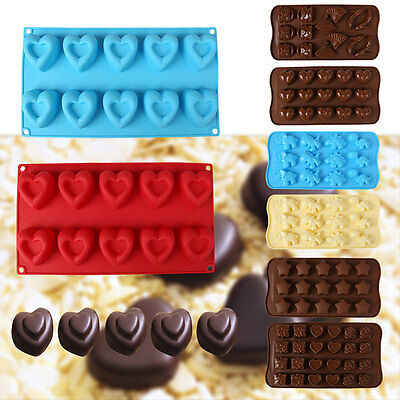 Silicone Fondant Cake Chocolate Cookie Candy Baking Mould Mold Jelly Baking Tray