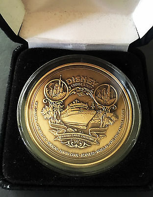 DCL Disney Cruise Line Panama Canal Crossing 2005 Solid Bronze Medallion Coin