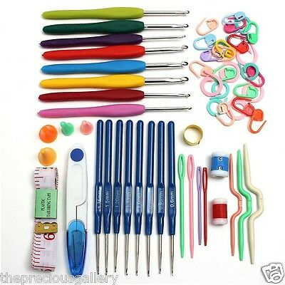 Crochet Set Hook Hooks16pcs Aluminum Knitting Knit Tool  With Storage Case Craft