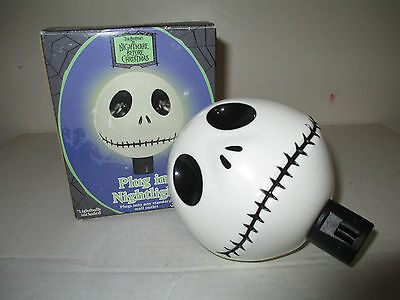 2008 NECA  Jack Skellington Plug in Nightlight The Nightmare Before Christmas