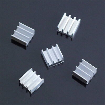 5pcs 11x11x5mm  Aluminum Heat Sink For Memory Chip QF