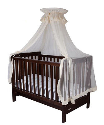New Baby Nursery cot halo stand and net pack - white