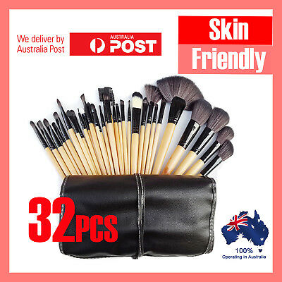 32Pcs Professional Makeup Brush Kit Set Cosmetic Make Up Beauty Brushes Wood
