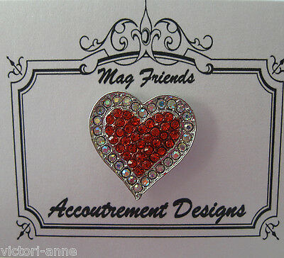 Accoutrement Designs Red White Heart Needle Minder Magnet Mag Friends