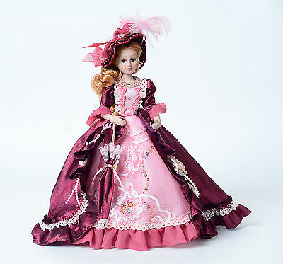 """12in tall porcelain doll """"Angelheart """" victorian doll for holiday collection."""